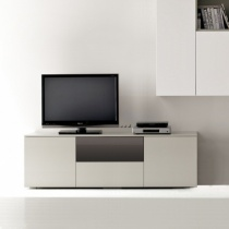 Space TV Unit, 1 Glass Drop-Down Door, 1 Drawer, 2 Door (ST150D) 150cm